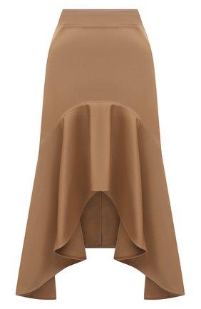 Женская хлопковая юбка GIVENCHY бежевого цвета, арт. BW40FC11UD   Фото 1