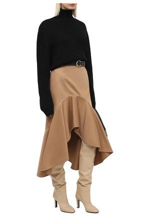 Женская хлопковая юбка GIVENCHY бежевого цвета, арт. BW40FC11UD   Фото 2