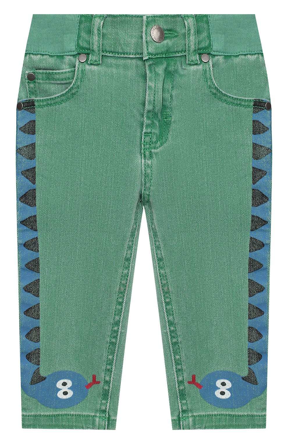 Детские джинсы STELLA MCCARTNEY зеленого цвета, арт. 601539/SPK76   Фото 1