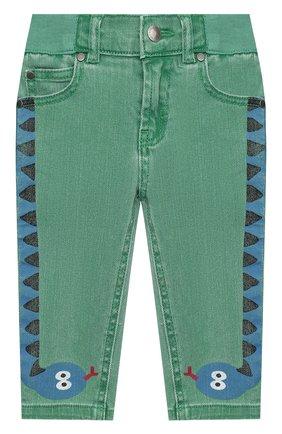 Детские джинсы STELLA MCCARTNEY зеленого цвета, арт. 601539/SPK76 | Фото 1