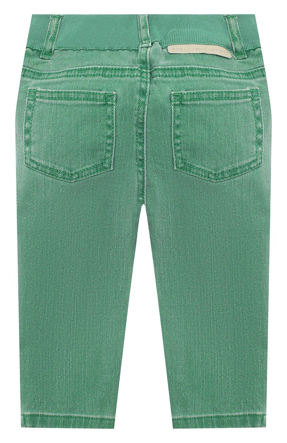 Детские джинсы STELLA MCCARTNEY зеленого цвета, арт. 601539/SPK76   Фото 2