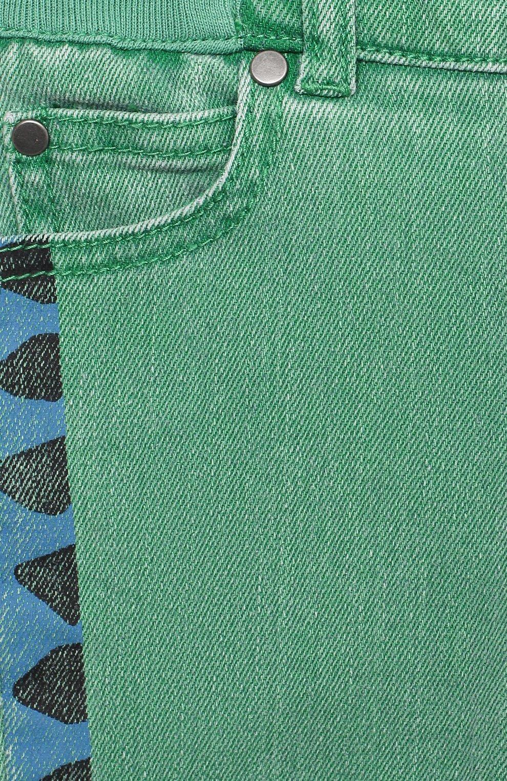 Детские джинсы STELLA MCCARTNEY зеленого цвета, арт. 601539/SPK76   Фото 3