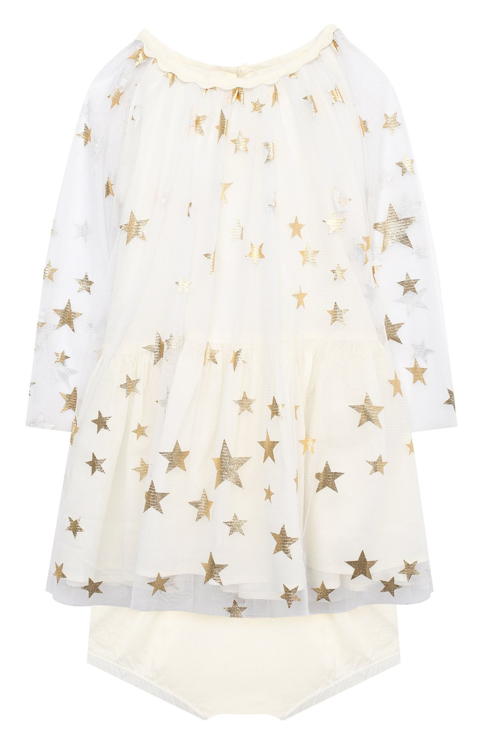 Женская комплект из платья и шорт STELLA MCCARTNEY бежевого цвета, арт. 601461/SPK85 | Фото 1