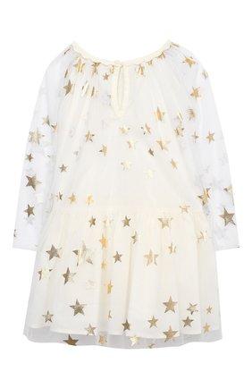Женская комплект из платья и шорт STELLA MCCARTNEY бежевого цвета, арт. 601461/SPK85 | Фото 3