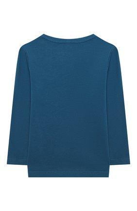 Детский хлопковый лонгслив STELLA MCCARTNEY синего цвета, арт. 601344/SPJC1 | Фото 2