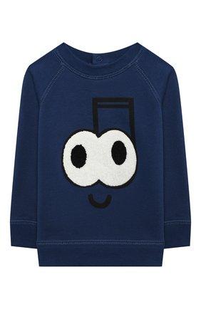 Детский хлопковый свитшот STELLA MCCARTNEY темно-синего цвета, арт. 601342/SPJ99 | Фото 1