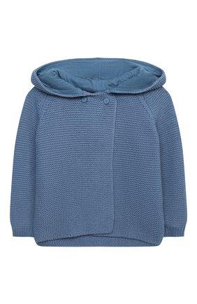 Детский хлопковый кардиган STELLA MCCARTNEY синего цвета, арт. 601006/SPM15 | Фото 1