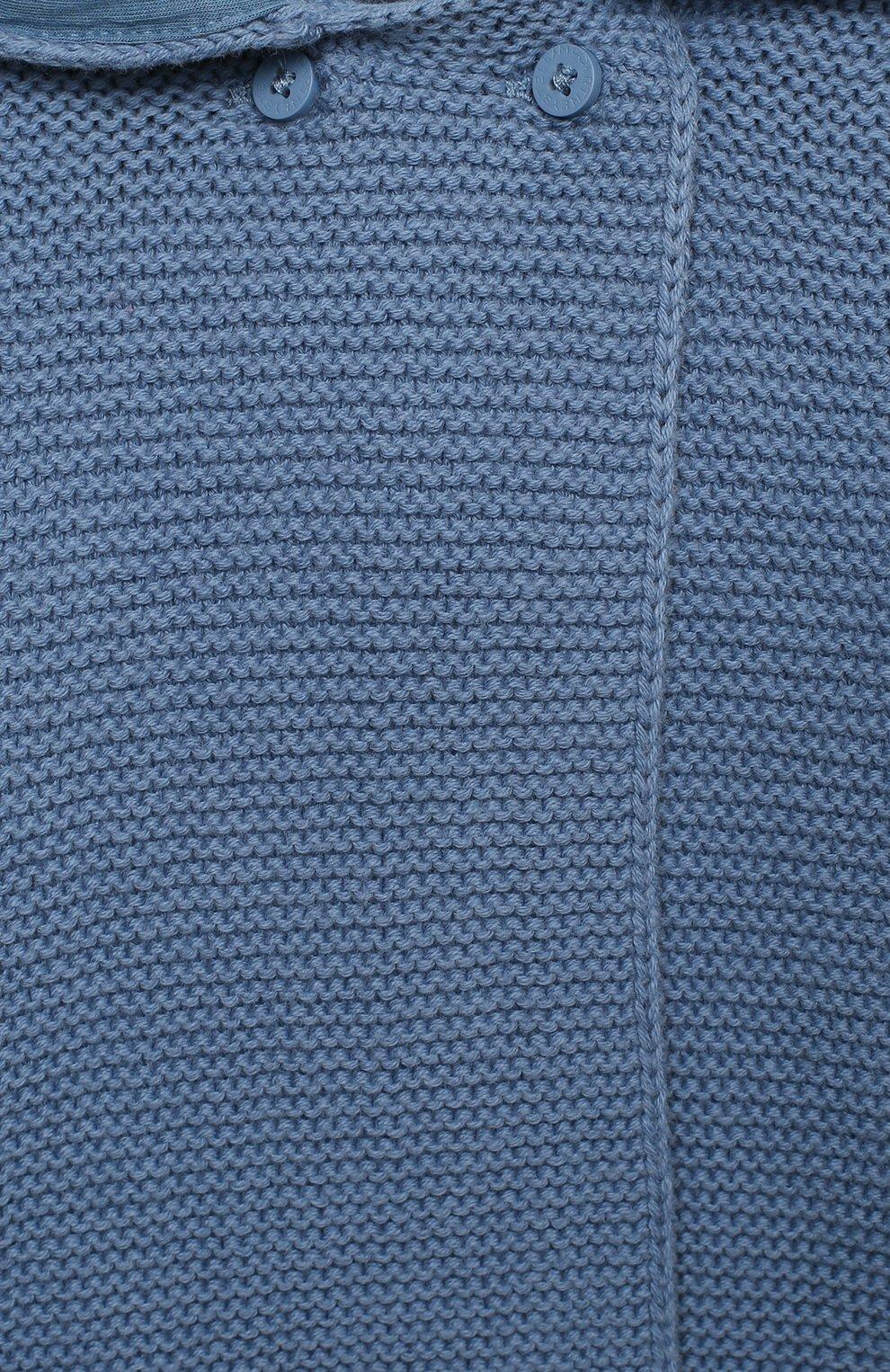 Детский хлопковый кардиган STELLA MCCARTNEY синего цвета, арт. 601006/SPM15 | Фото 3