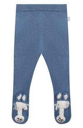 Детские хлопковые ползунки STELLA MCCARTNEY синего цвета, арт. 601005/SPM15 | Фото 1