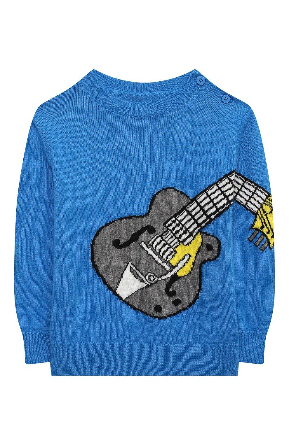 Детский хлопковый пуловер STELLA MCCARTNEY синего цвета, арт. 601004/SPM20   Фото 1