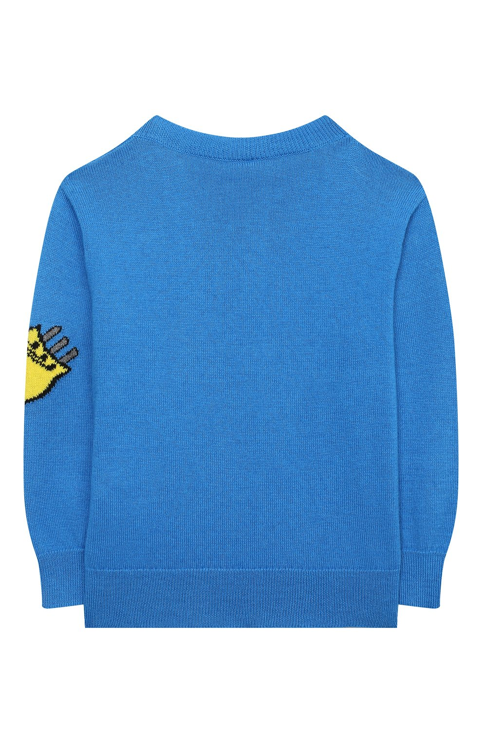 Детский хлопковый пуловер STELLA MCCARTNEY синего цвета, арт. 601004/SPM20   Фото 2