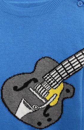 Детский хлопковый пуловер STELLA MCCARTNEY синего цвета, арт. 601004/SPM20   Фото 3
