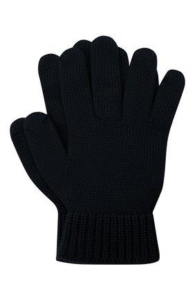 Детские шерстяные перчатки EMPORIO ARMANI темно-синего цвета, арт. 404615/0A759 | Фото 1