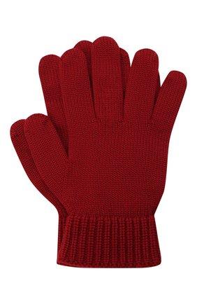 Детские шерстяные перчатки EMPORIO ARMANI красного цвета, арт. 404615/0A759 | Фото 1