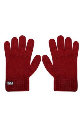 Детские шерстяные перчатки EMPORIO ARMANI красного цвета, арт. 404615/0A759 | Фото 2