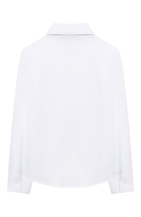 Детское хлопковая блузка DAL LAGO белого цвета, арт. R407A/7537/4-6 | Фото 2