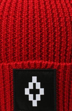 Детского шапка MARCELO BURLON KIDS OF MILAN красного цвета, арт. 20I/B/MB/9101/7072 | Фото 3