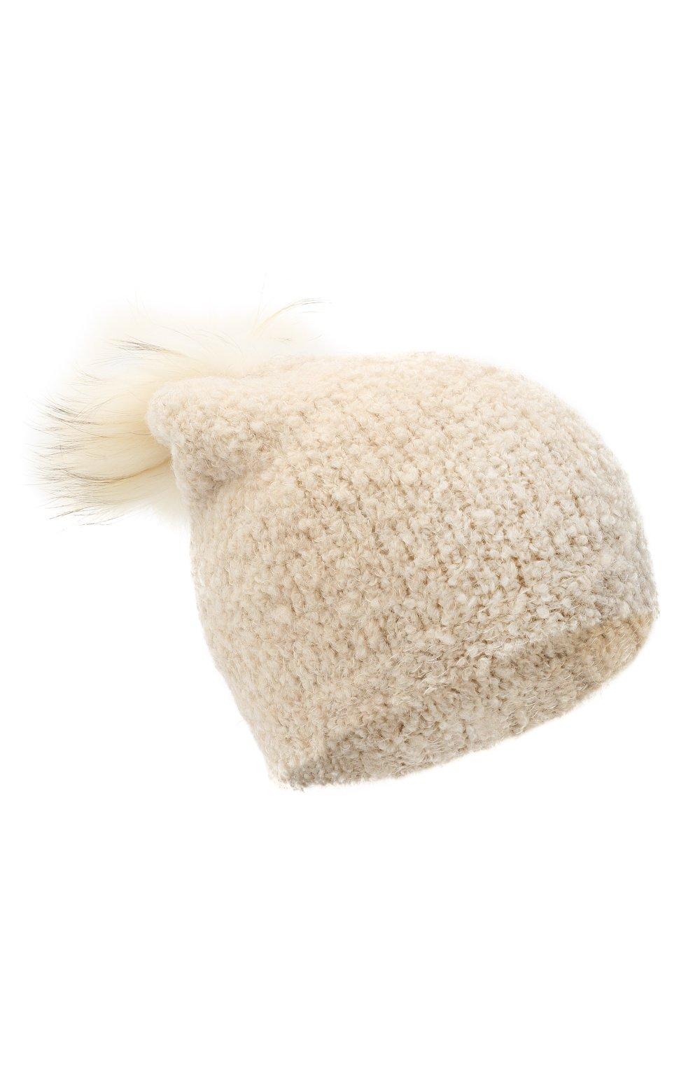 Детского шапка DOUUOD белого цвета, арт. 20I/U/JR/CP05/7060   Фото 1 (Материал: Текстиль)