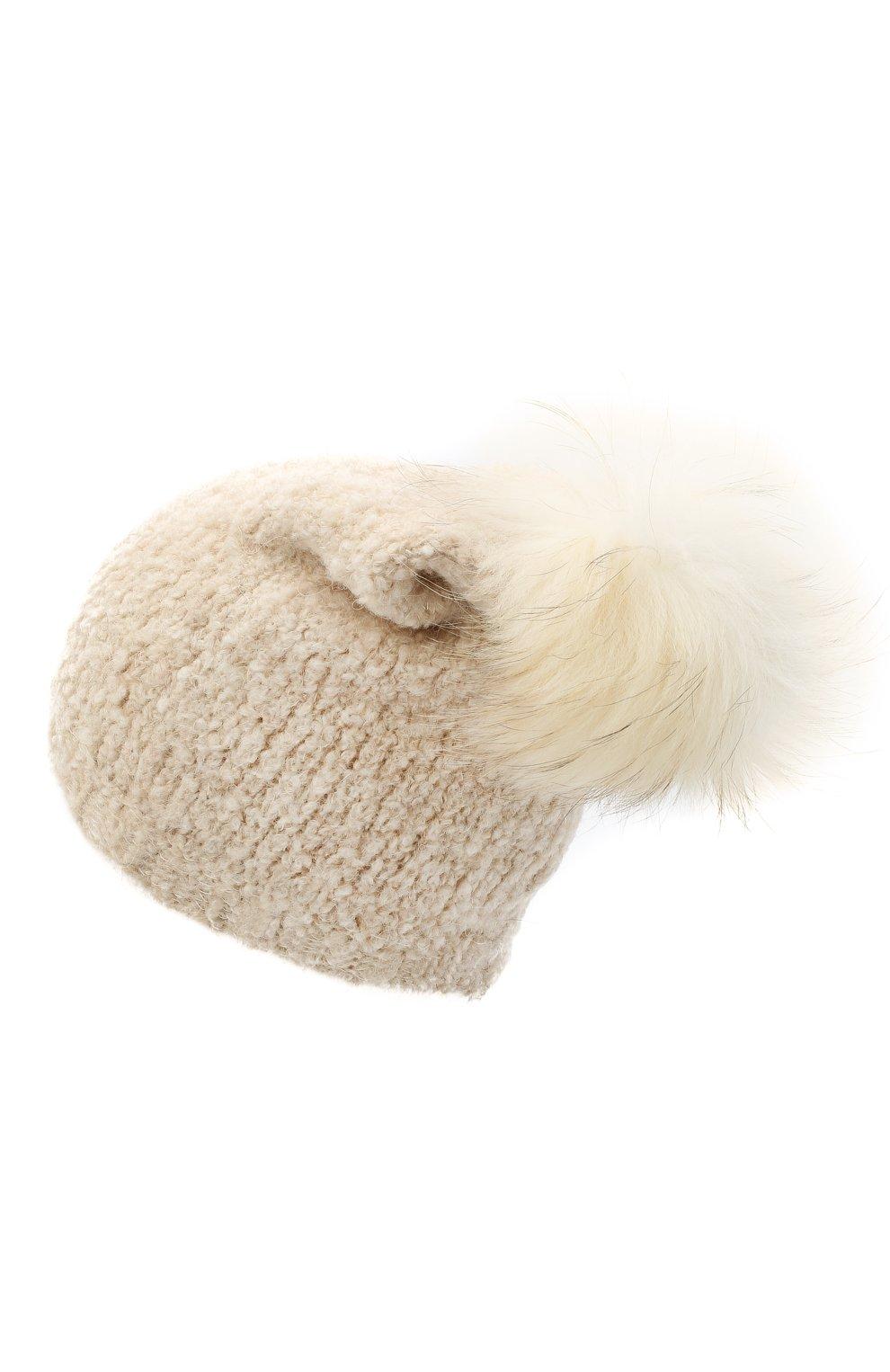 Детского шапка DOUUOD белого цвета, арт. 20I/U/JR/CP05/7060   Фото 2 (Материал: Текстиль)