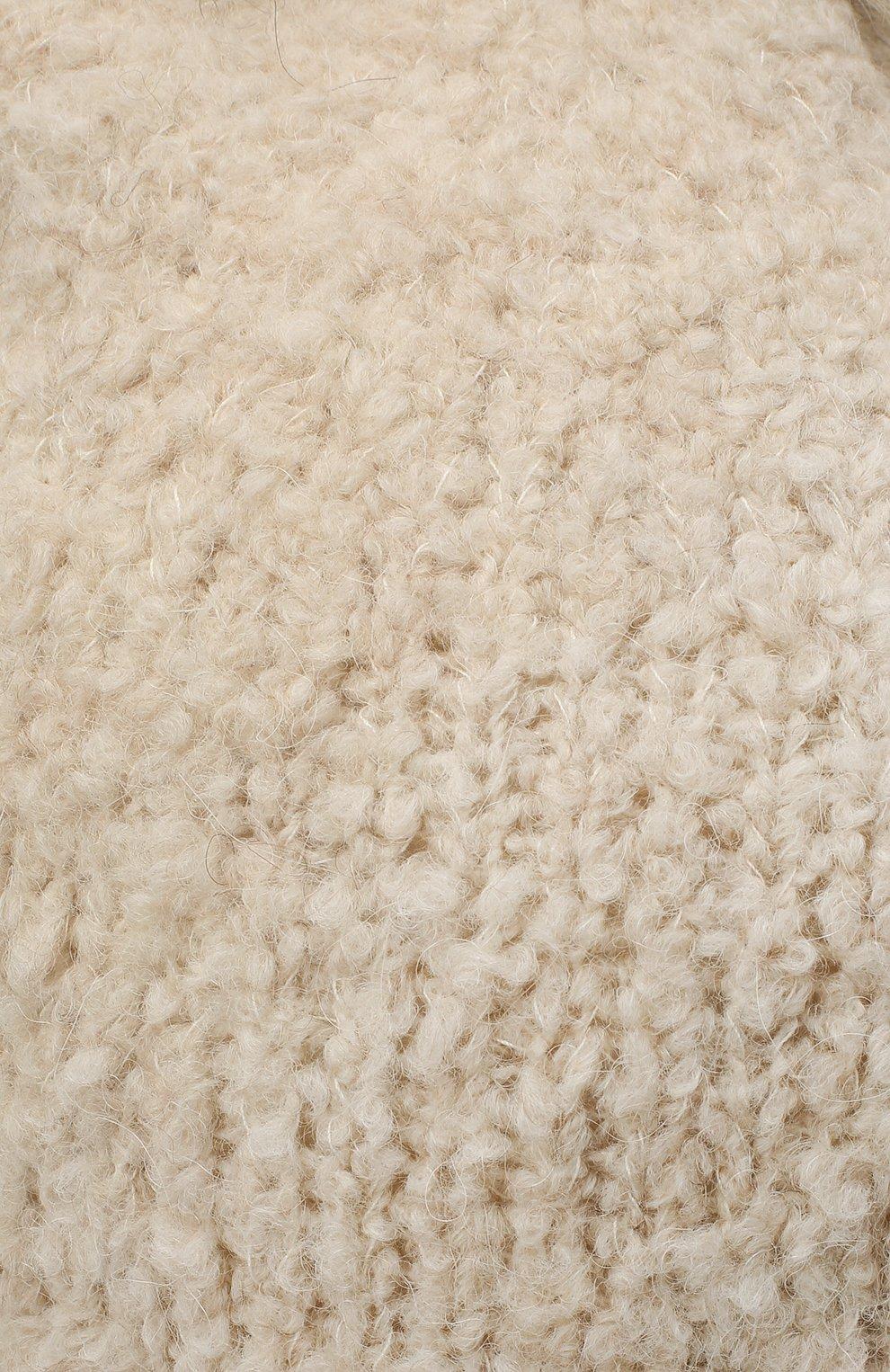 Детского шапка DOUUOD белого цвета, арт. 20I/U/JR/CP05/7060   Фото 3 (Материал: Текстиль)