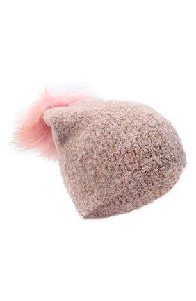 Детского шапка DOUUOD розового цвета, арт. 20I/U/JR/CP05/7060 | Фото 1
