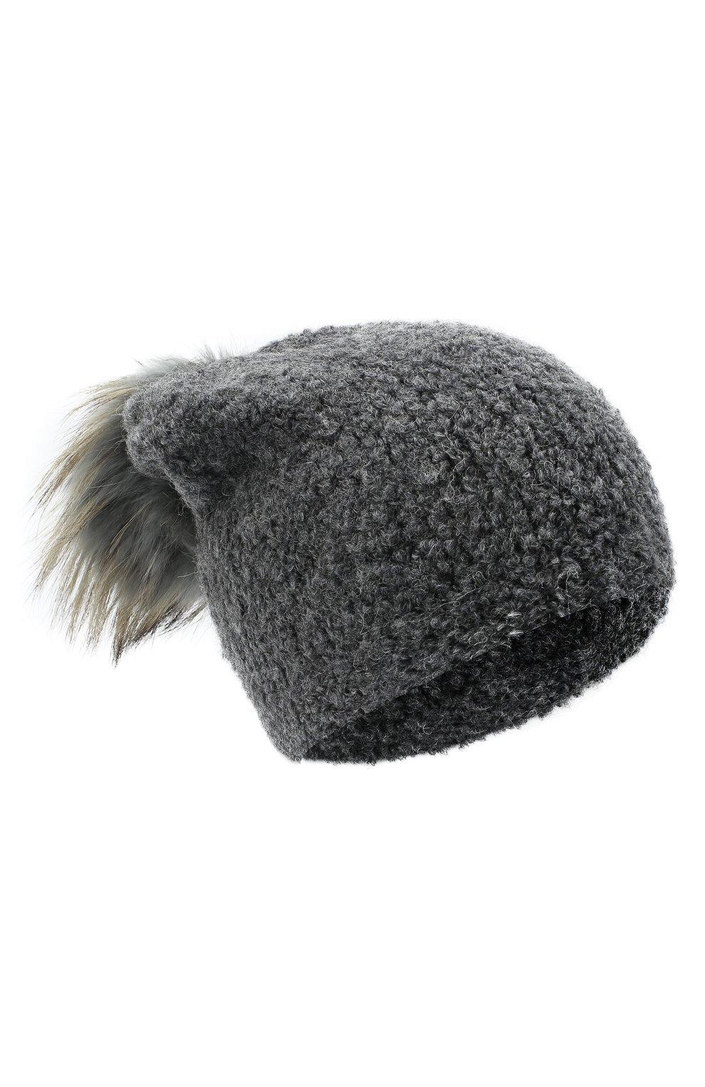 Детского шапка DOUUOD серого цвета, арт. 20I/U/JR/CP05/7060 | Фото 1