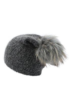 Детского шапка DOUUOD серого цвета, арт. 20I/U/JR/CP05/7060 | Фото 2