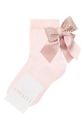 Детские хлопковые носки LA PERLA розового цвета, арт. 47049/1-2 | Фото 1