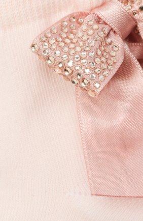 Детские хлопковые носки LA PERLA розового цвета, арт. 47049/1-2 | Фото 2