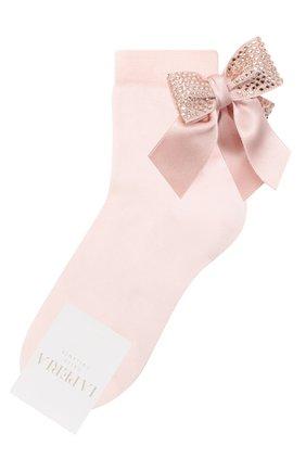 Детские хлопковые носки LA PERLA розового цвета, арт. 47049/3-6 | Фото 1