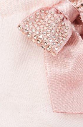 Детские хлопковые носки LA PERLA розового цвета, арт. 47049/3-6 | Фото 2