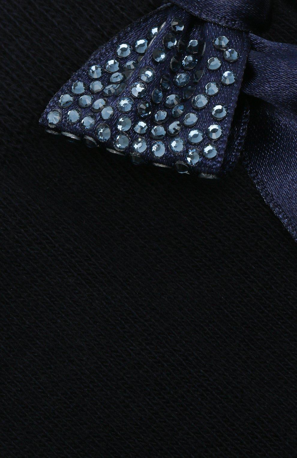 Детские хлопковые носки LA PERLA синего цвета, арт. 47049/9-12   Фото 2