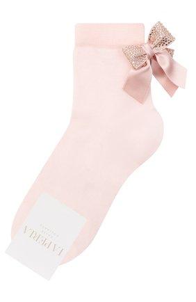 Детские хлопковые носки LA PERLA розового цвета, арт. 47049/9-12 | Фото 1