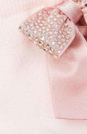 Детские хлопковые носки LA PERLA розового цвета, арт. 47049/9-12 | Фото 2