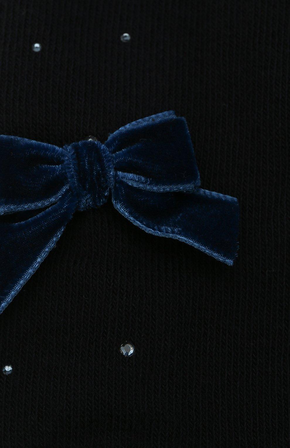 Детские хлопковые колготки LA PERLA синего цвета, арт. 47811/1-3   Фото 2 (Материал: Текстиль, Хлопок)