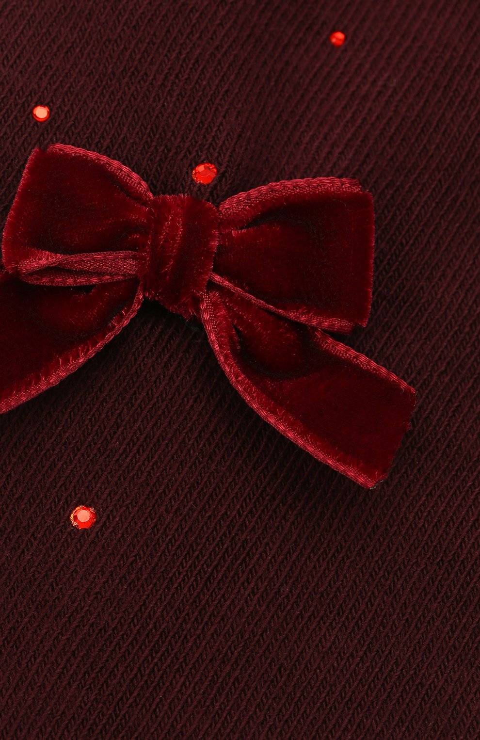 Детские хлопковые колготки LA PERLA бордового цвета, арт. 47811/1-3   Фото 2 (Материал: Текстиль, Хлопок)
