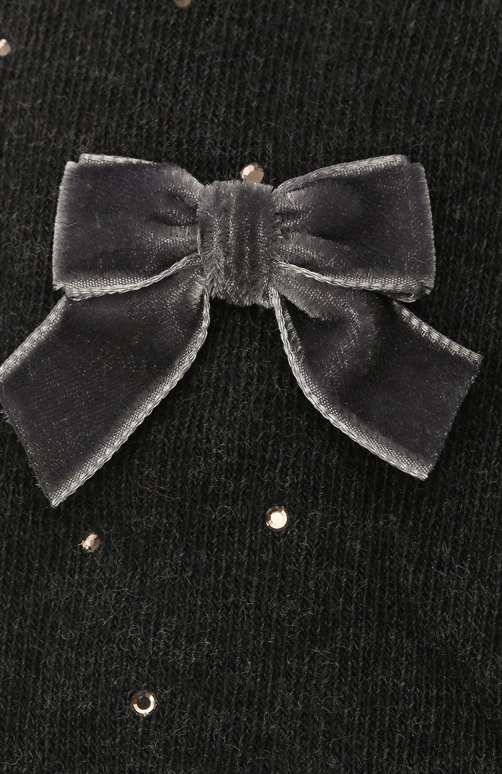 Детские хлопковые колготки LA PERLA темно-серого цвета, арт. 47811/4-6 | Фото 2 (Материал: Текстиль, Хлопок)