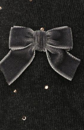 Детские хлопковые колготки LA PERLA темно-серого цвета, арт. 47811/4-6 | Фото 2