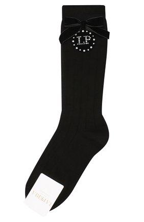 Детские хлопковые носки LA PERLA черного цвета, арт. 47878/3-6 | Фото 1