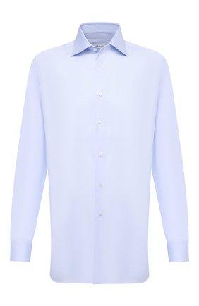 Мужская хлопковая сорочка BRIONI голубого цвета, арт. RCA10M/P90C3   Фото 1