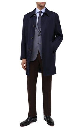 Мужская хлопковая сорочка BRIONI голубого цвета, арт. RCA10M/P90C3   Фото 2