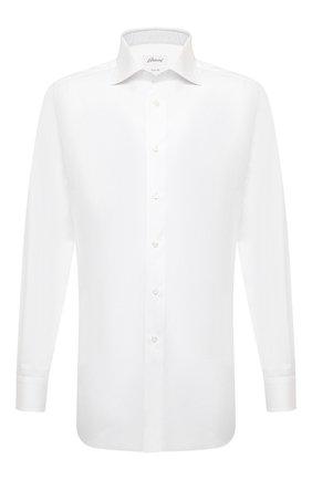 Мужская хлопковая сорочка BRIONI белого цвета, арт. RCA10M/P90C3 | Фото 1