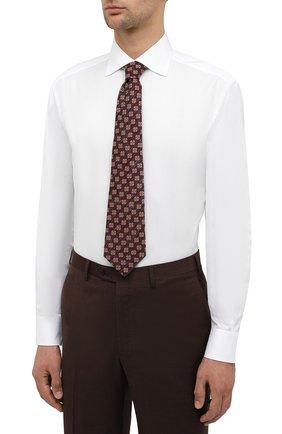 Мужская хлопковая сорочка BRIONI белого цвета, арт. RCA10M/P90C3 | Фото 5