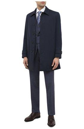 Мужской шерстной костюм-тройка CANALI синего цвета, арт. 19220/93/BR02787 | Фото 1