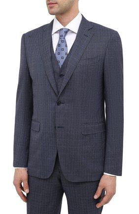 Мужской шерстной костюм-тройка CANALI синего цвета, арт. 19220/93/BR02787 | Фото 2