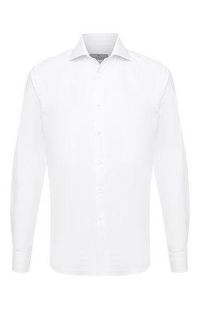 Мужская хлопковая сорочка CANALI белого цвета, арт. NX58/GR01594 | Фото 1