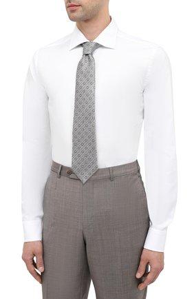 Мужская хлопковая сорочка CANALI белого цвета, арт. NX58/GR01594   Фото 4