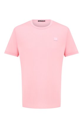 Мужская хлопковая футболка ACNE STUDIOS розового цвета, арт. 25E173/M | Фото 1