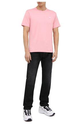 Мужская хлопковая футболка ACNE STUDIOS розового цвета, арт. 25E173/M | Фото 2