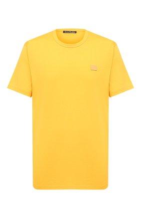 Мужская хлопковая футболка ACNE STUDIOS желтого цвета, арт. 25E173/M | Фото 1